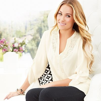 Love this pretty tunic from the Lauren Conrad Collection. It's so feminine and I love the detail!