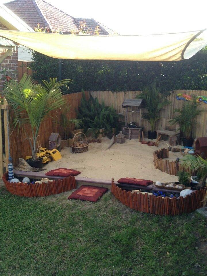 Backyard Sandpit : Sandpit  Backyard kids  Pinterest
