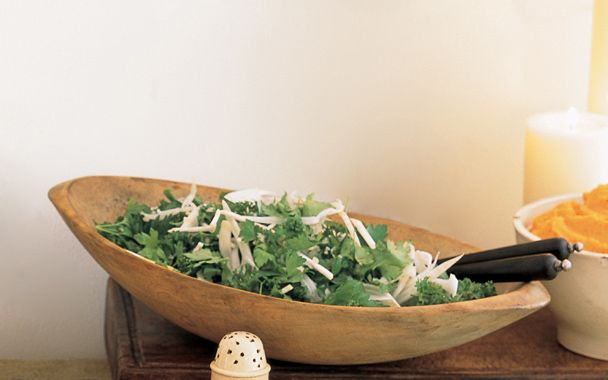parsley, fennel, and celery root salad lightens up an otherwise heavy ...