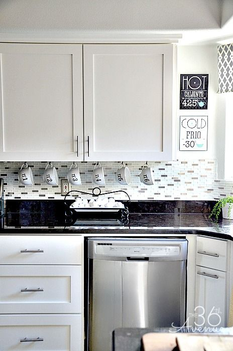 Kitchen Cabinets also Kitchen Makeovers With White Cabinets and White