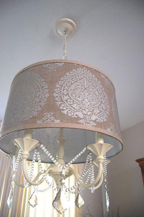 Diy drum shade chandelier yeah cool art pinterest for Cool diy chandeliers