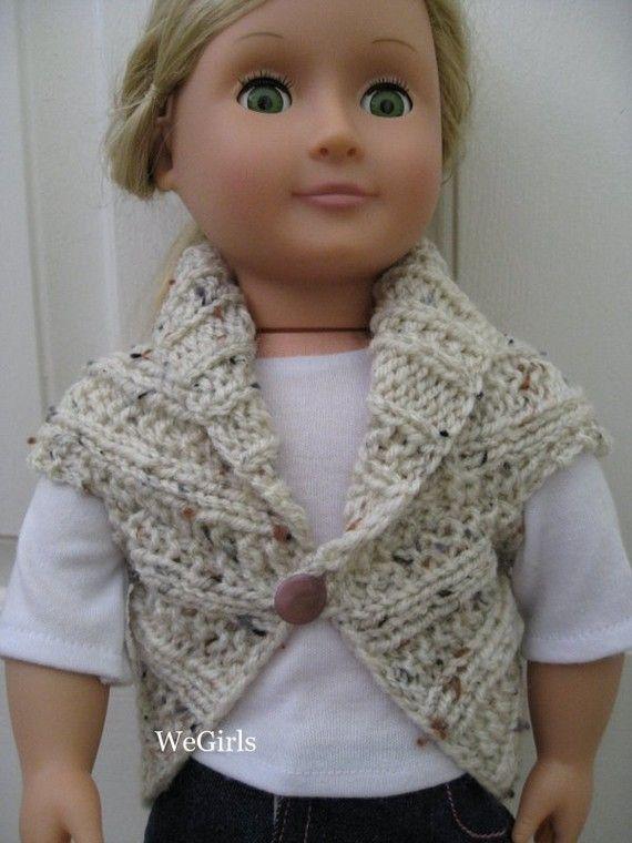 Knitting Pattern 18 Doll Sweater : Knit Pattern for 18 inch American Girl Dolls Turtleback Sweaters Set