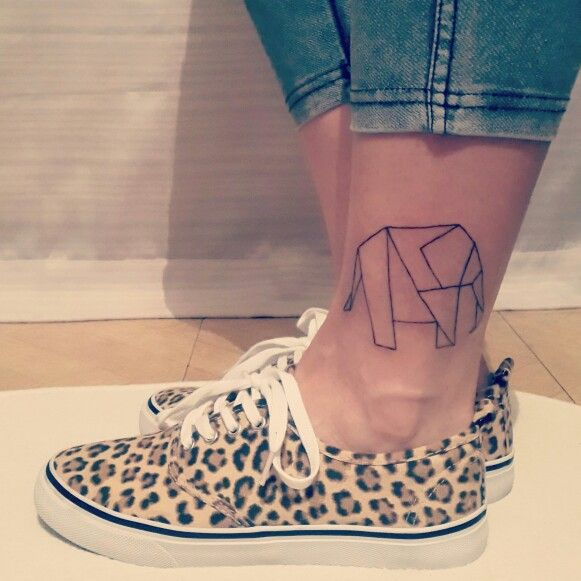 My lucky charm ... Origami Elephant Tattoo