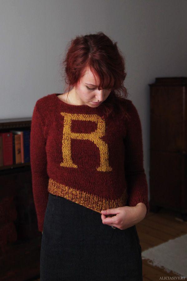 Knitting Pattern For Weasley Sweater : weasley sweater. knitting. Pinterest