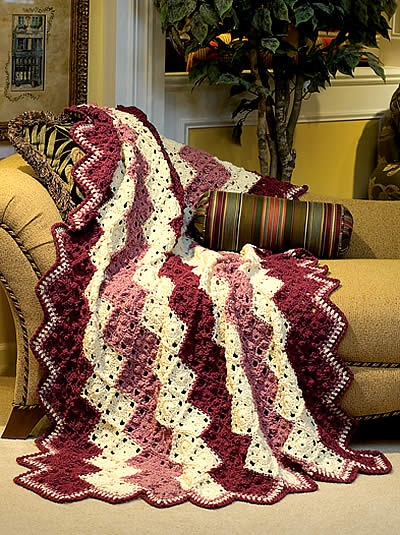 Sophisticated Zigzag Crochet Pattern Crocheted Afghan Patterns Pi ...