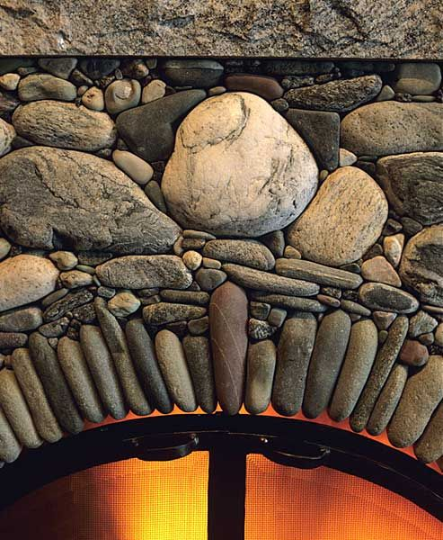 Super detail of a Lew French Stone Fireplaces.  Love this in my home. #stone work #fireplace #vision board
