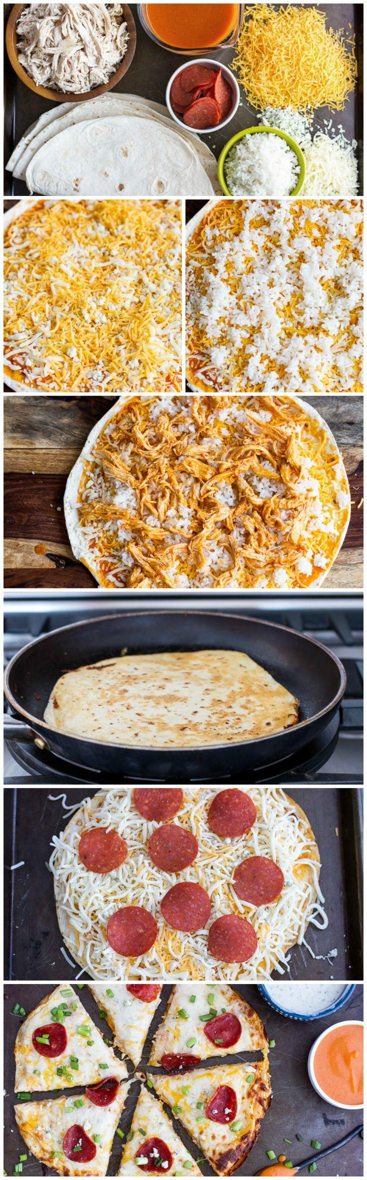 Buffalo Chicken Pizzadillas (Pizza Quesadillas) | Recipe