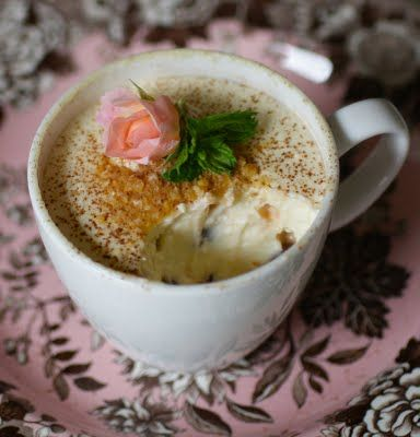 Microwave Cheesecake in a Mug  @Camille Brixey