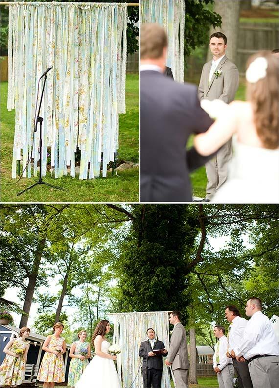 Comfortable Backyard Wedding Ceremony  Weddings  Pinterest