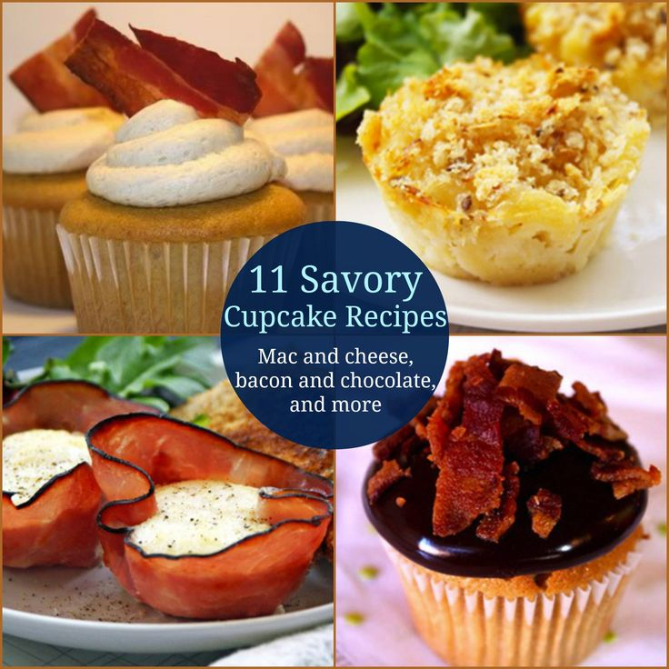 11 Savory Cupcake Recipes. Including eggs baked in ham! Yummy!