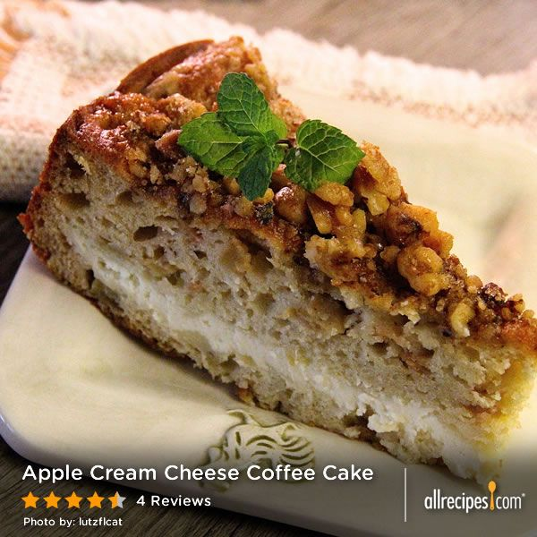 "Apple Cream Cheese Coffee Cake | ""Chunks of apple float in this ..."
