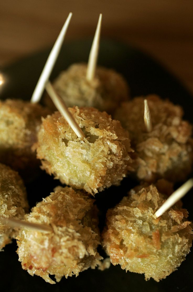 Stuffed fried olives | Recipe