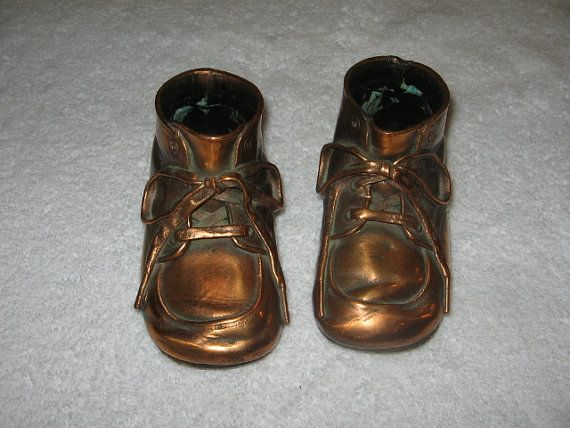 Bronze baby shoes by Fromtheboysbarn on Etsy, $12.00