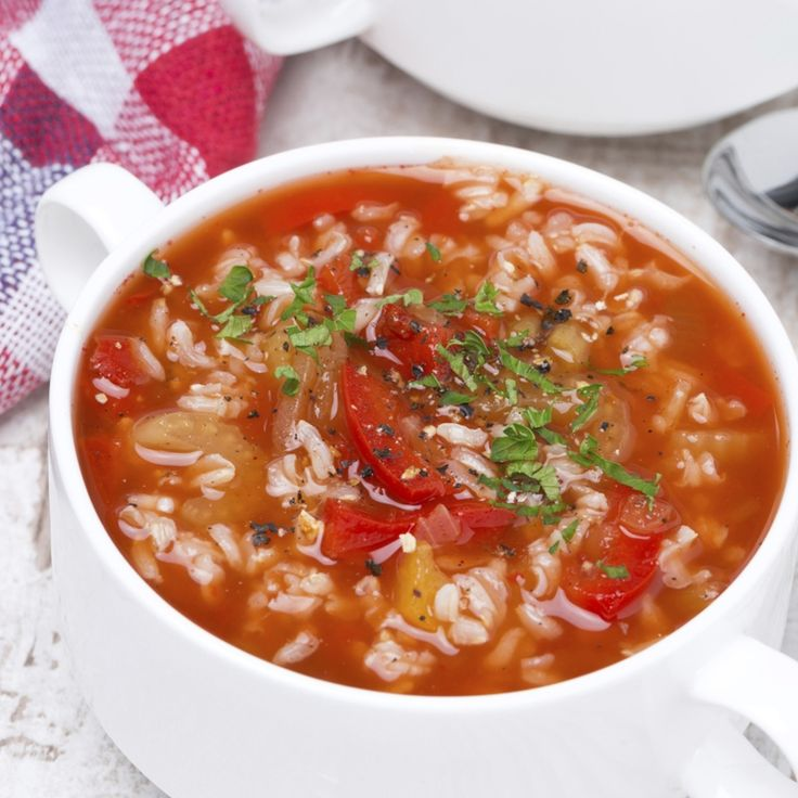 Homemade tomato rice soup is perfect on a chilly day.It doesn't take ...