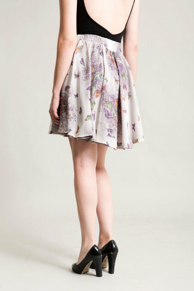 summer skirt knee length skirt grey skirt