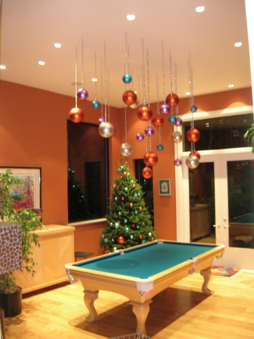 Hang ornaments from the ceiling holidays pinterest for Decor hanging from ceiling