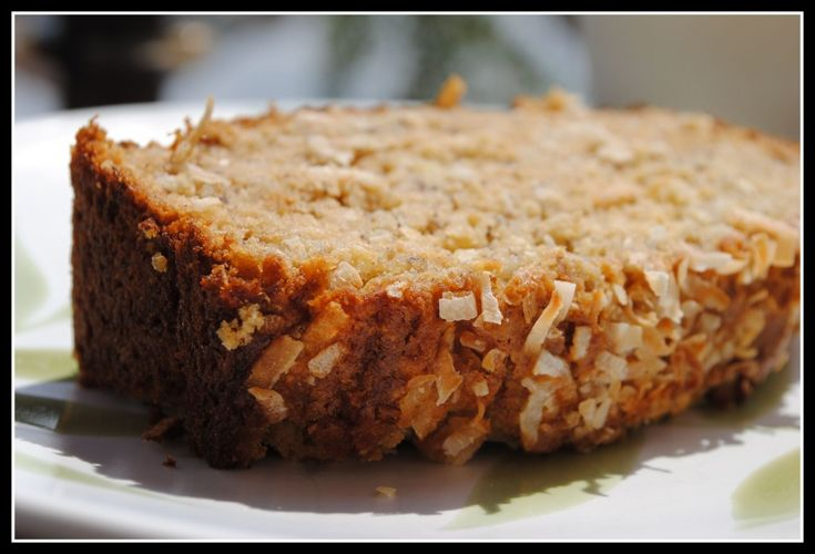 low fat coconut banana bread | Breads | Pinterest