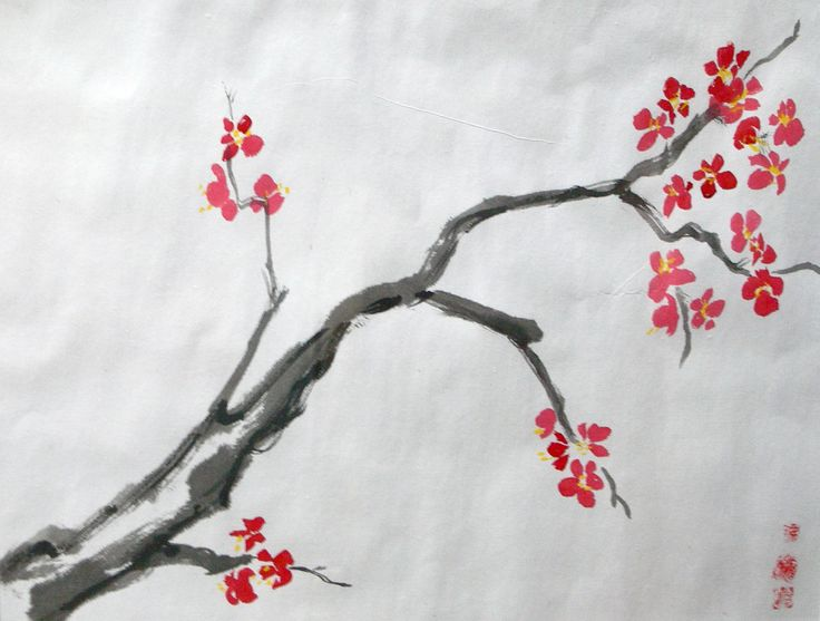 Pin by christine felsman on summer camp pinterest for Simple cherry blossom painting
