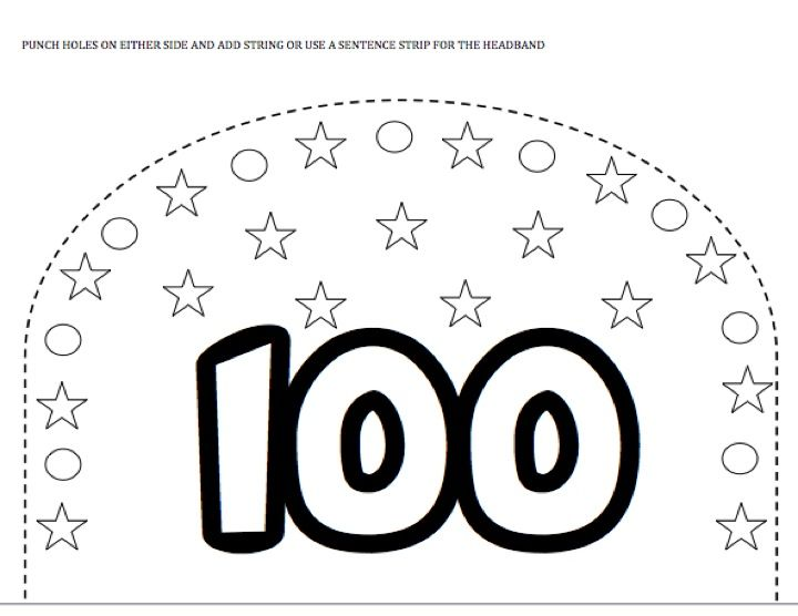 100th day hat new calendar template site