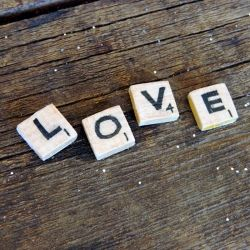 DIY Scrabble Tiles. Why pay .25 cents each when you can make em for next to nothing.