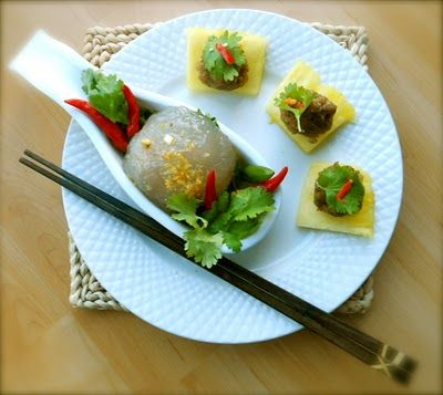 ... Recipes: Traditional Thai Appetizers: Ma Hoh and giant sago dumplings