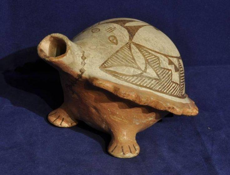 Acoma Pueblo Indian Pottery Unusual Bird Effigy Canteen 1940-*-*-725bin