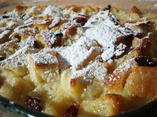Cranberry White Chocolate Bread Pudding | Recipe