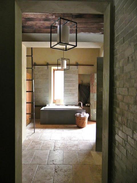 Rustic modern bath bathroom ideas pinterest for Bathroom ideas rustic modern