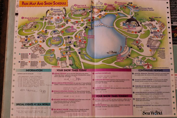 SeaWorld Map