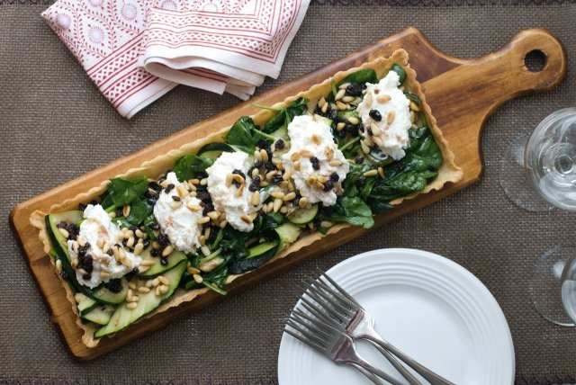 tart w whipped ricotta and rum soaked currents you had me at tart but ...