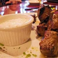 Rosemary beef skewers with horseradish dipping sauce - could not find ...