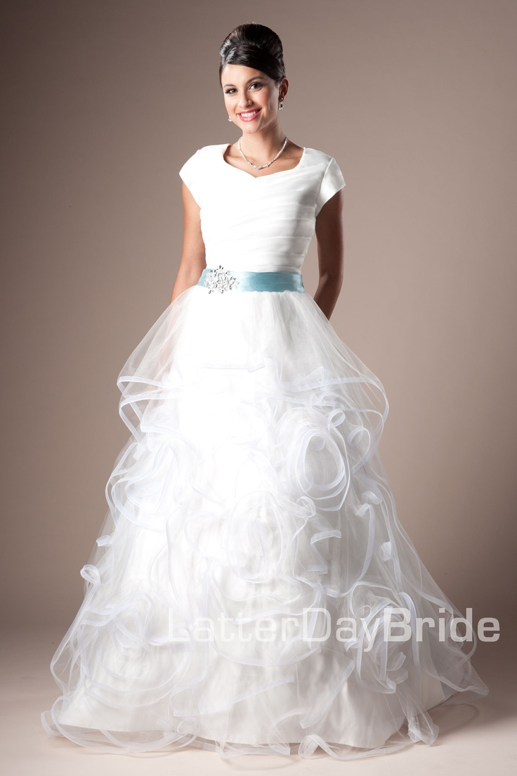 Latter day bride aldabella dress classic wedding for Latter day bride wedding dresses