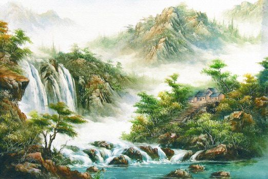 ... Painting Nature Wall Mural, 8-Feet 6-Inch By 5-Feet 8-Inch - Prints