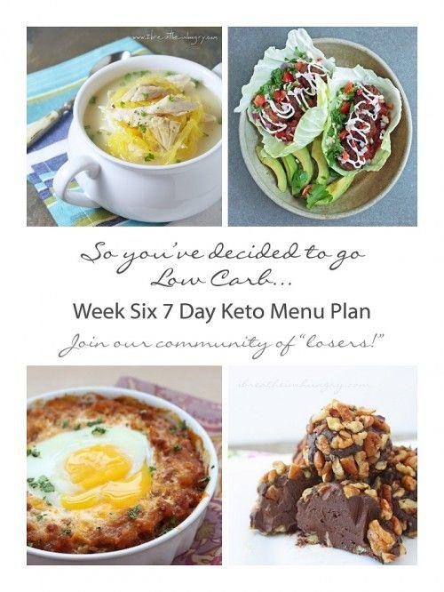Week 6 free 7 day keto atkins and low carb diet menu plan