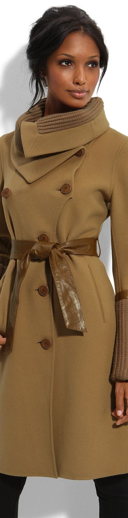 Beautiful Beige Winter Coat, Love The Collar - Fall/Winter Fashion