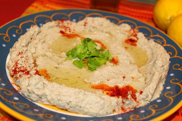 EASY BABA GANOUSH 2 large eggplants 2 tablespoons extra virgin olive ...