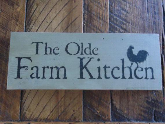 Primitive farmhouse kitchen rooster sign by porchsittinprimitive 8