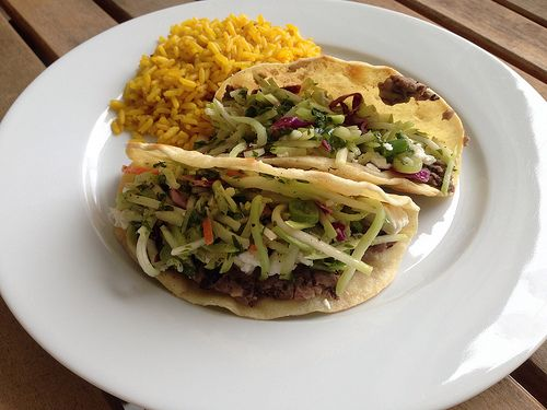 Taste of Home Cooking: Crispy Black Bean Tacos with Feta and Slaw