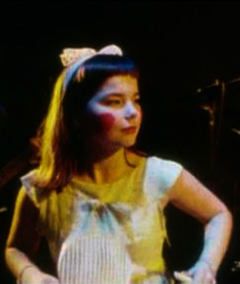 Björk, singer in the band Tappi Tíkarrass, circa 1983