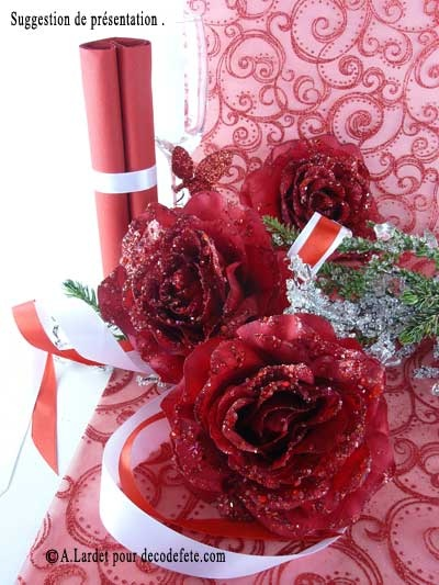 Des #roses #givrees à disposer sur la table http://www.decodefete.com/-c-124_132.html?page=3=2a