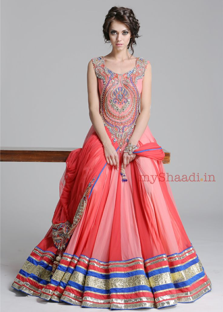 Dress indian style by kamaali couture bridal collection for Indian style dresses for a wedding