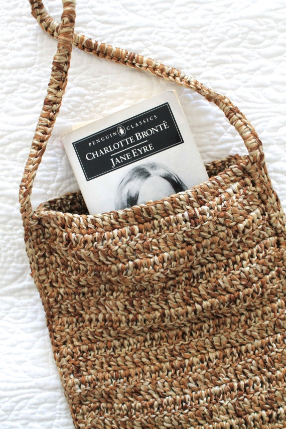 New Crochet Bags : NEW Book Bag Crochet Purse Knitting/Crochet Ideas Pinterest