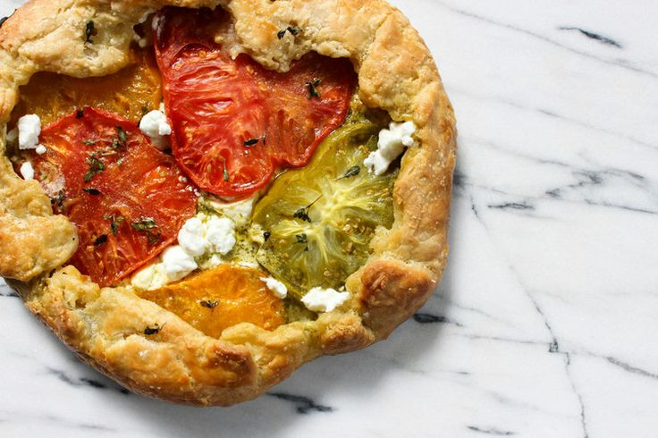 Heirloom Tomato Galette with Pesto & Goat Cheese