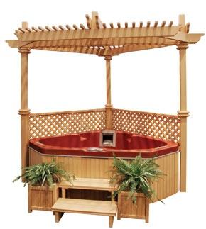 corner hot tub and gazebo love it dream home ideas