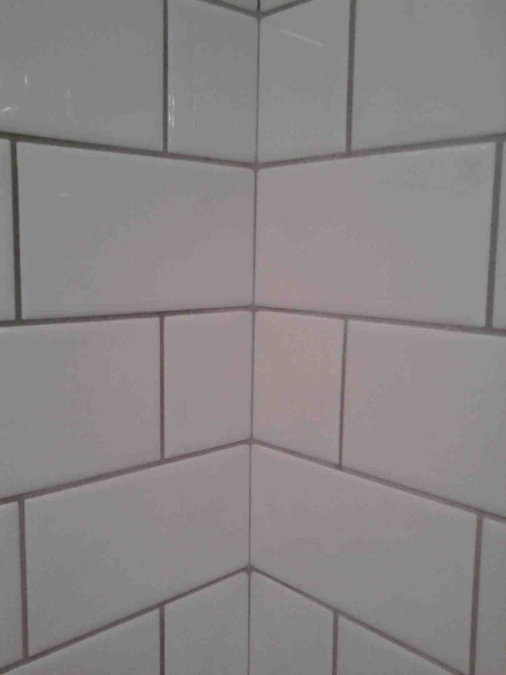 Subway tile grey grout