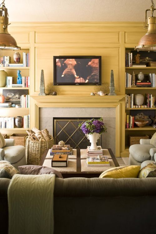 Fantastic Fireplace Flanked By Bookcases  Built In Bookcases Flanking Fireplace