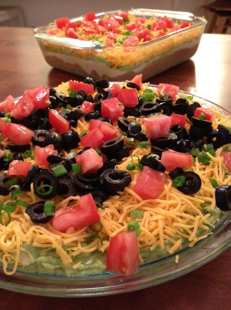 Seven Layer Taco Dip | Appeteasers... | Pinterest
