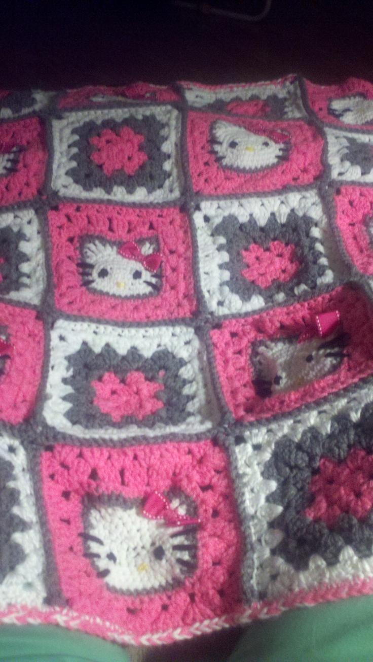 Crochet Pattern For Hello Kitty Baby Blanket : Hello Kitty crochet blanket hello kitty Pinterest
