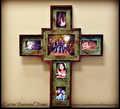 cross frame large custom cross green