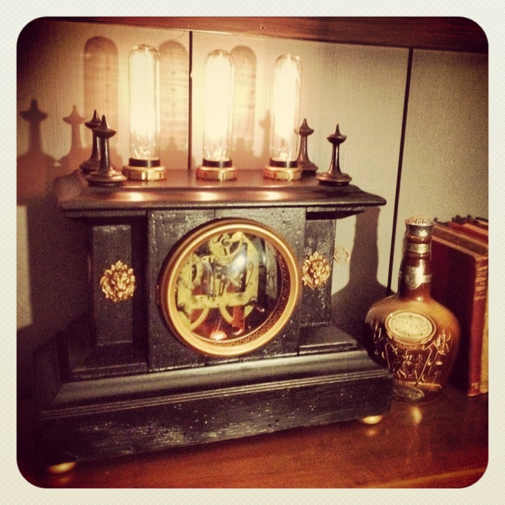 Pin by alicia brunson on fantasy abode pinterest - Steampunk mantle clock ...